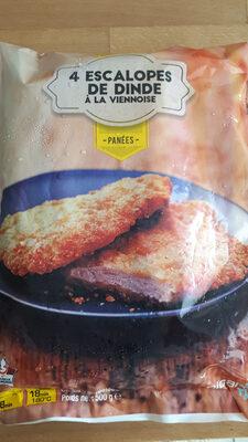 4 escalopes de dinde à la viennoise panées - Product - fr