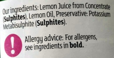 Lemon Juice - Ingredients - en