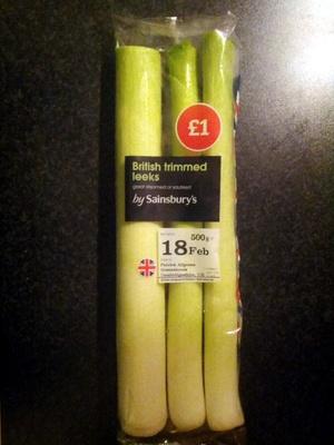 British trimmed leeks - Product