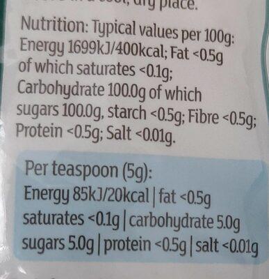 Golden Granulated Cane Sugar - Voedingswaarden - en