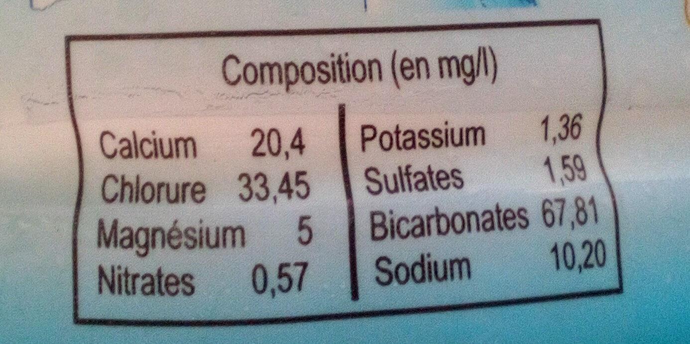 Belle saveur - Informations nutritionnelles