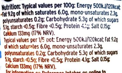 Greek style natural yogurt - Informations nutritionnelles - en
