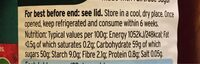Raspberry conserve - Nutrition facts