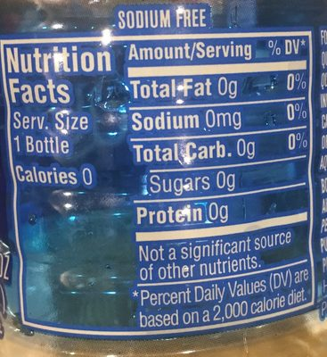 Purified Drinking Water - Ingredients