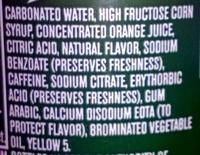 Mtn Dew - Ingredients - en