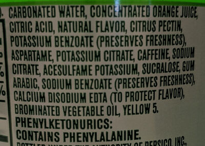 Soda - Ingrédients