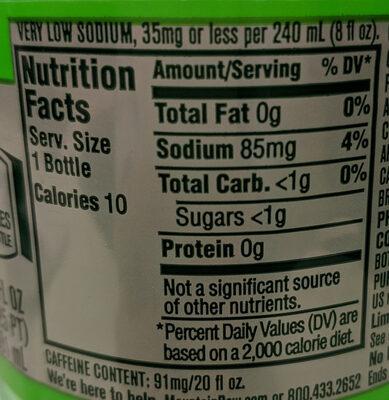 Soda - Informations nutritionnelles - en