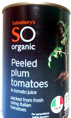 Peeled plum tomatoes in tomato juice packed from fresh using Italian tomatoes - Product