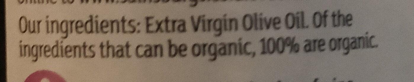 Organic Unfiltered Extra virgin olive oil - Ingredients - en