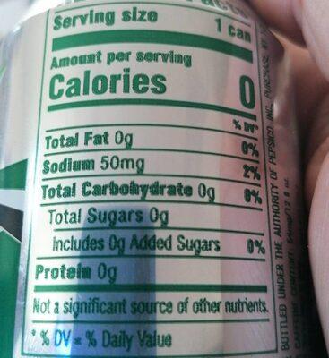 Diet Mtn Dew - Nutrition facts - en