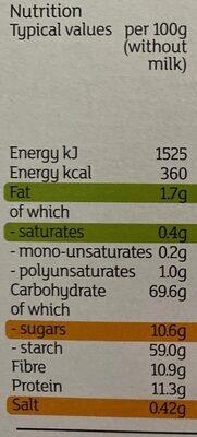 Wholegrain Malties - Nutrition facts - en