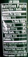 Mountain Dew - Nutrition facts