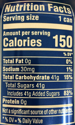 Pepsi - Nutrition facts