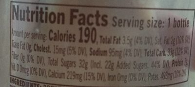 Starbucks Frappuccino Mocha Chilled Coffee Drink - Nutrition facts - fr