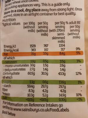 - Informazioni nutrizionali - en