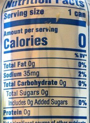 Diet Pepsi - Nutrition facts - en