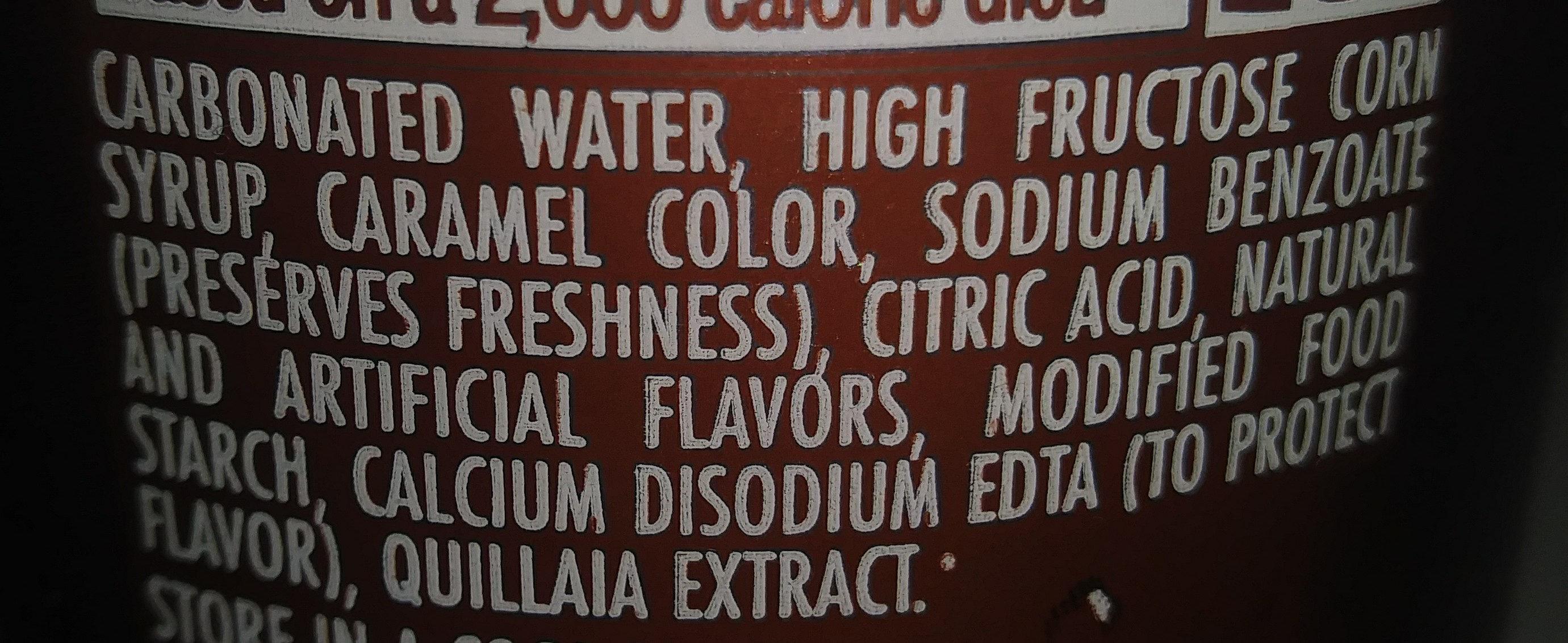 Mug Root Beer - Ingredienti - en