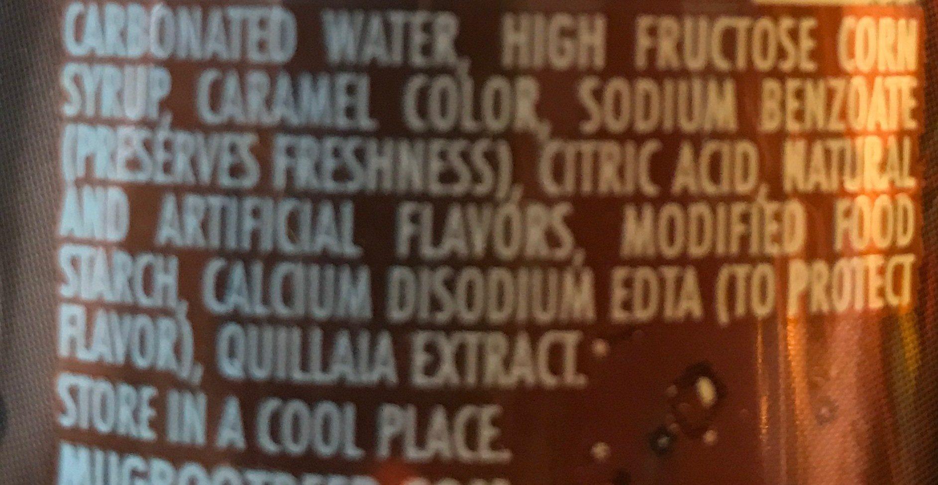 Mug Root Beer - Ingrédients
