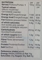 British Shortcrust Pastry Steak Pie - Nutrition facts - fr