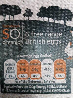 Free range eggs - Voedingswaarden - en