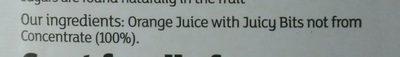 Orange juice with juicy bits - Ingredients