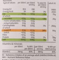 Orange juice with juicy bits - Nutrition facts