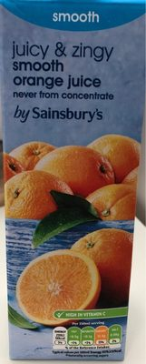 Juicy & zingy smooth orange juice - Produit