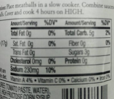 Sauce chili - Nutrition facts - en