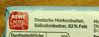 Deutsche Markenbutter aus Weidemilch - Ingrédients - de