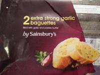 2 extra strong garlic baguettes - Produit - en