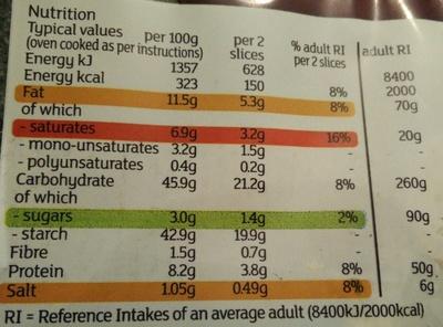 2 extra strong garlic baguettes - Informations nutritionnelles - en