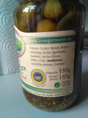 Pfeffergurken - Ingrédients