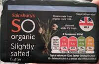 Sainsbury's organic slightly salted butter - Product