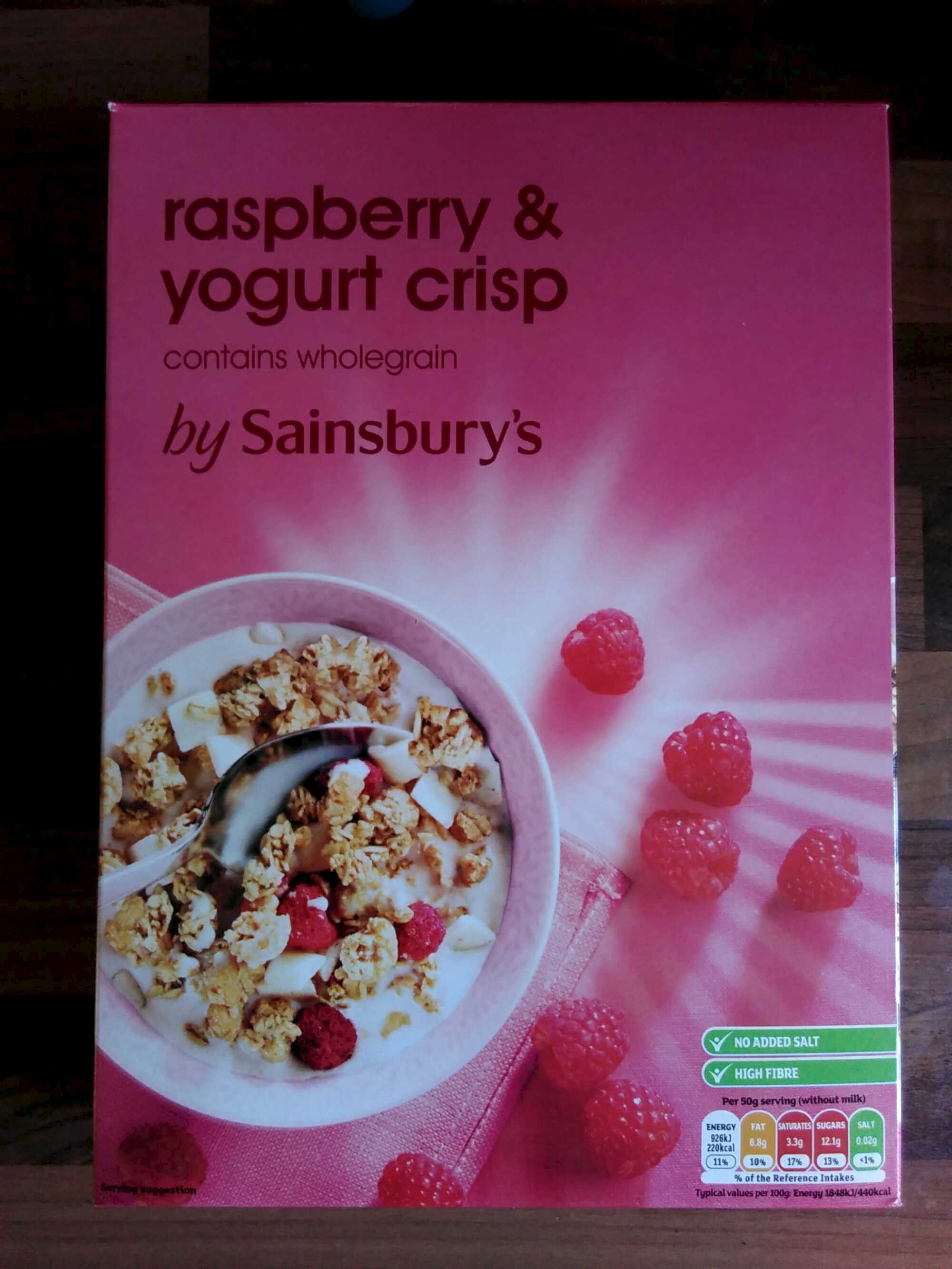 Raspberry and yogurt crisp - Product - en