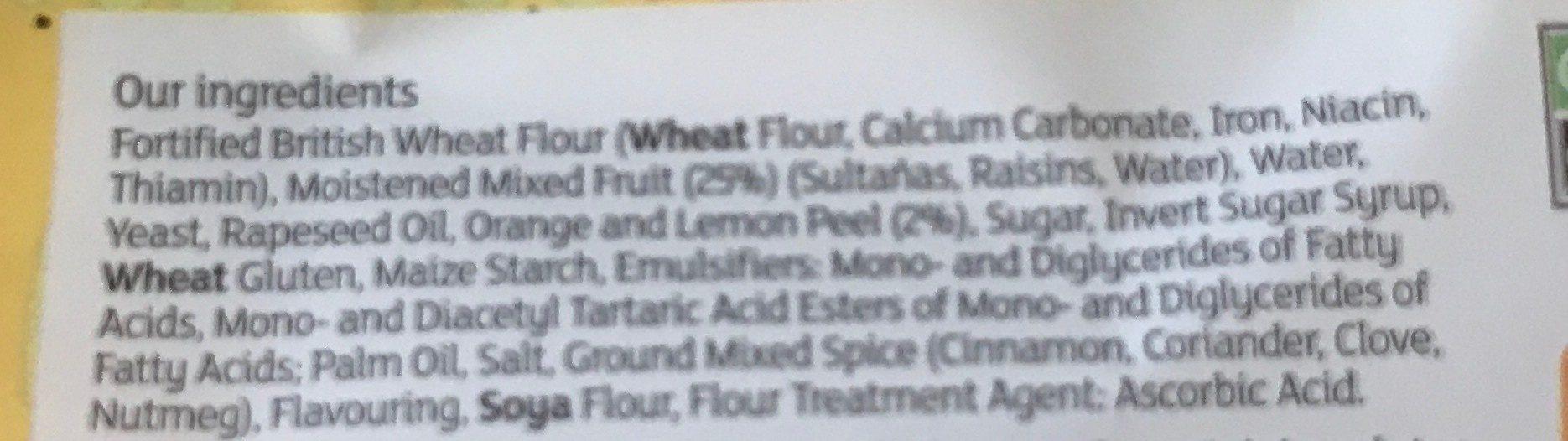Hot cross buns - Ingrediënten - en