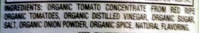 Organic Tomato Ketchup - Ingredients - en