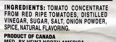 Simply Heinz Tomato Ketchup - Ingredients