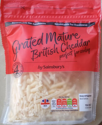 Grated Mature British Cheddar - Produit - en