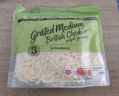 Grated Medium British Cheddar - Produit - fr