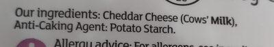 Grated Medium British Cheddar - Ingrédients - fr