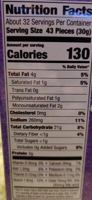 Goldfish: Mix - Nutrition facts - en