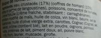 Bisque de Homard - Ingrédients - fr