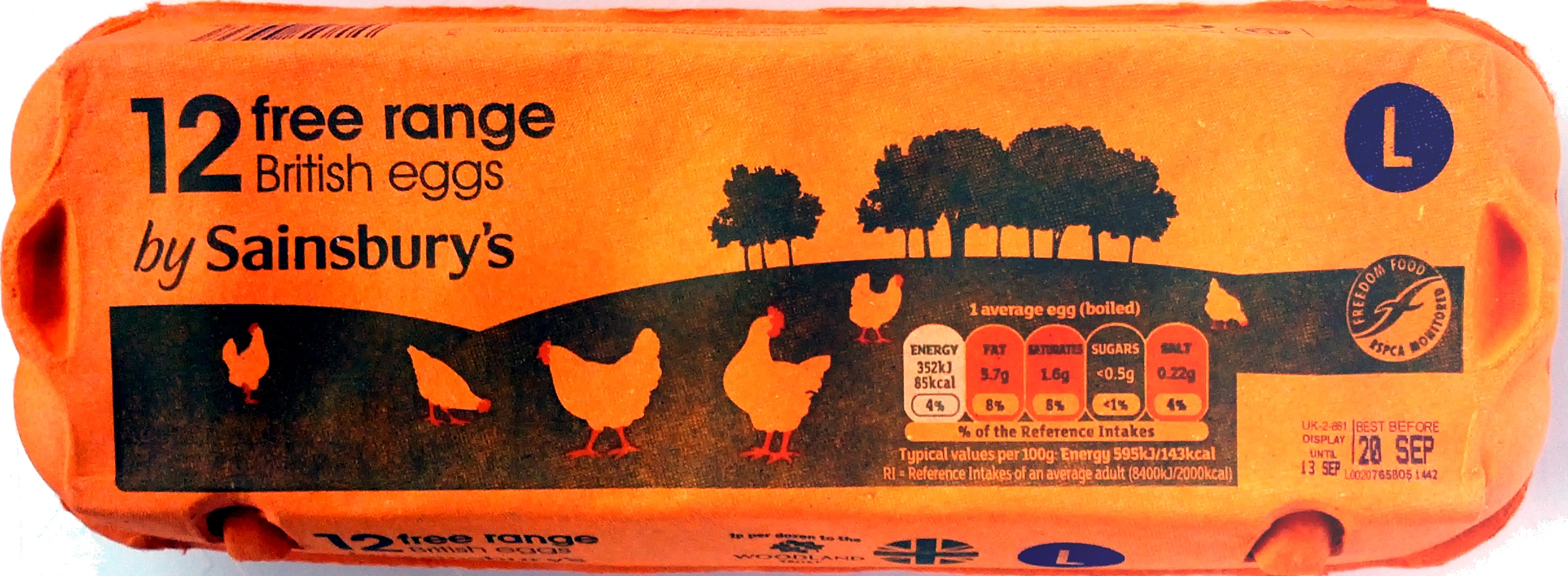 12 free range British eggs - Product - en
