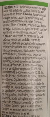 Formule 1 herbalife Sostituto del pasto biscuit croc - Ingredienti - fr