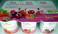Low Fat Red Fruits Yogurts - Produit - en