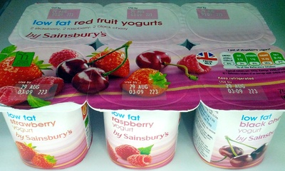 Low Fat Red Fruits Yogurts - Product