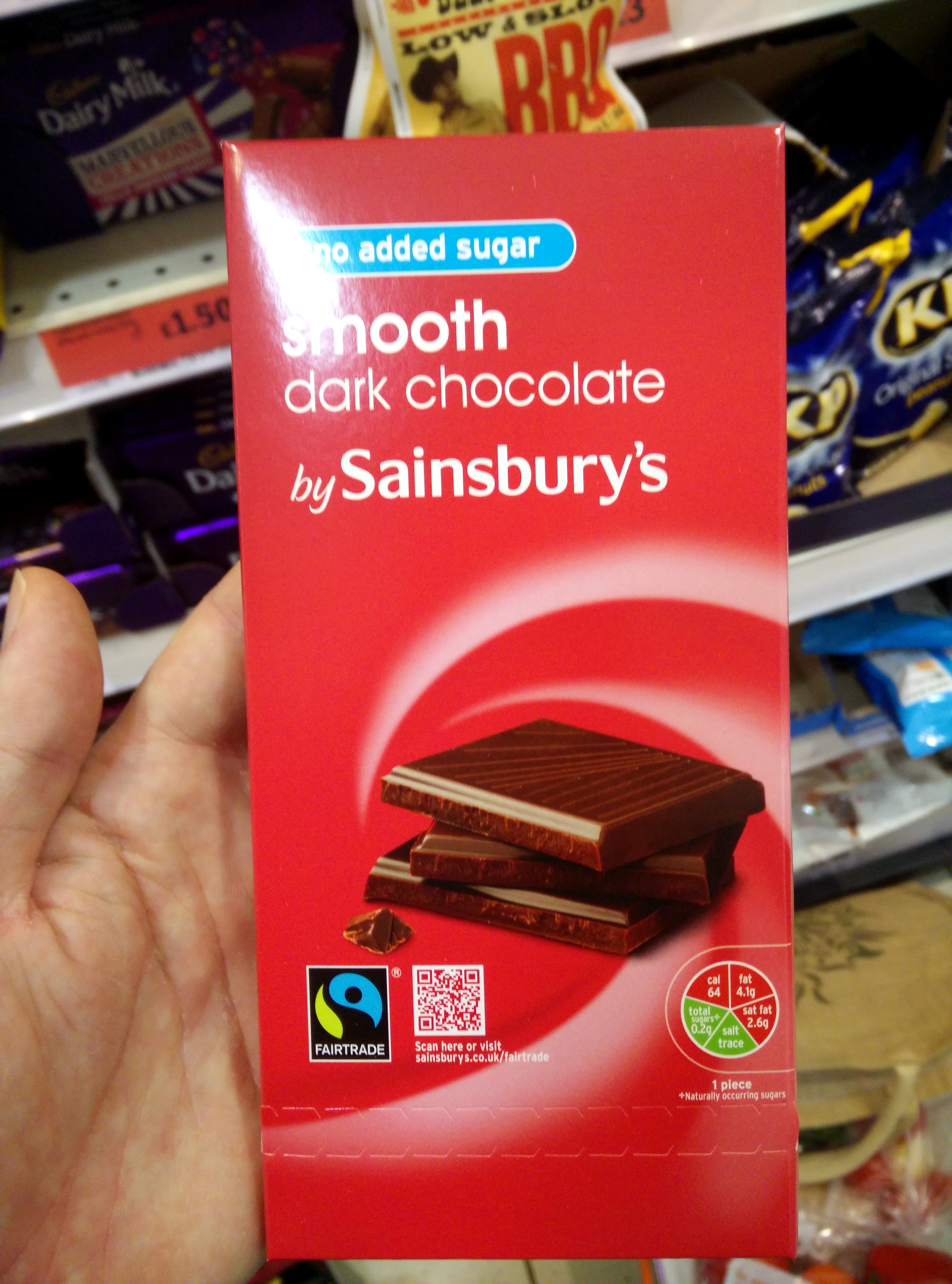 No Added Sugar Smooth Dark Chocolate - Product