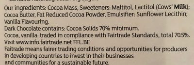 No Added Sugar Smooth Dark Chocolate - Ingredients