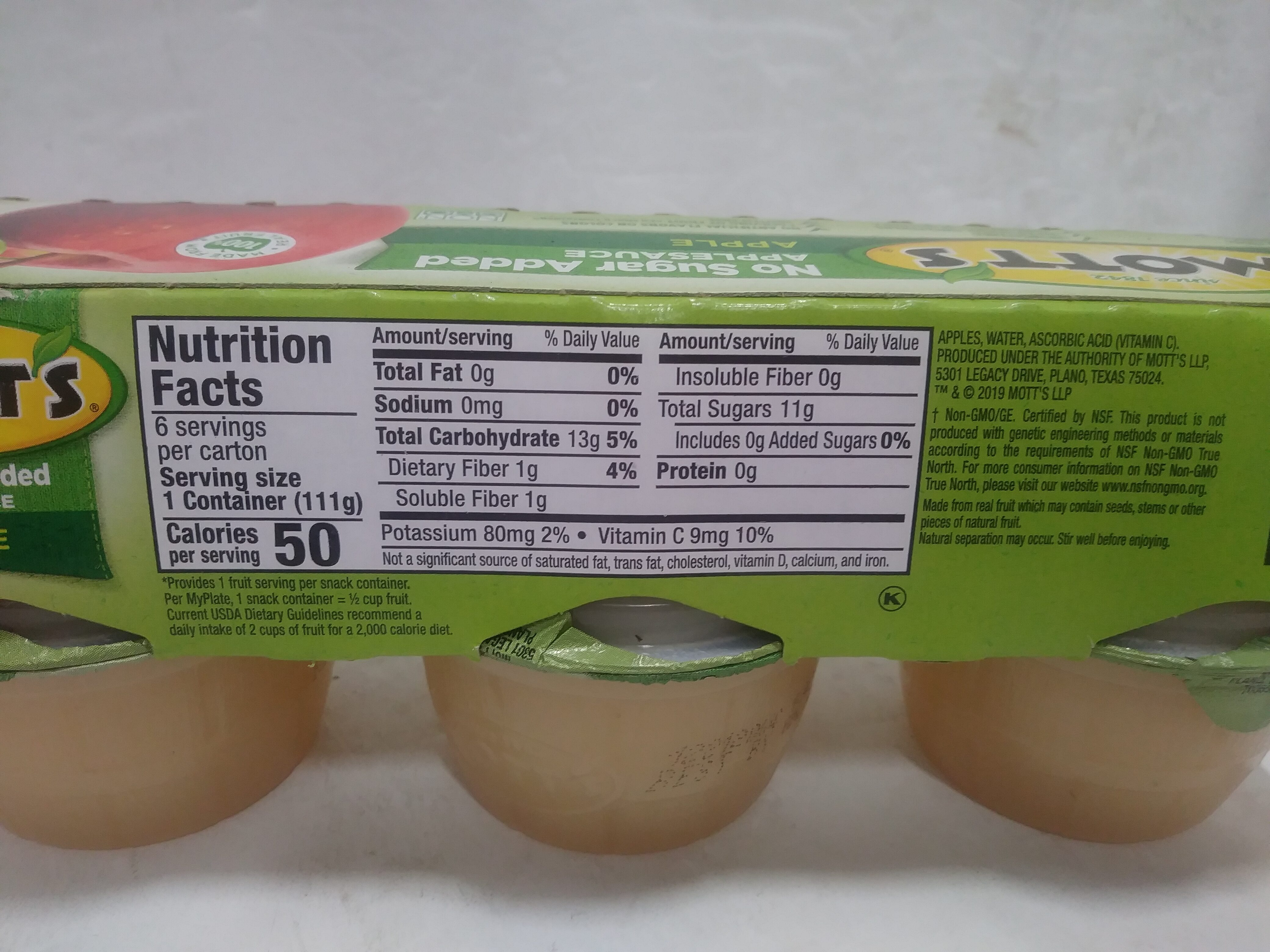 Applesauce - No Sugar Added - Recycling instructions and/or packaging information - en