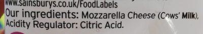 Mozzarella - Ingrédients